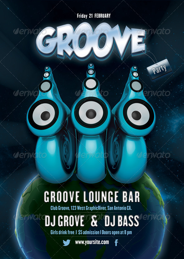 Groove Party Flyer - Clubs & Parties Events