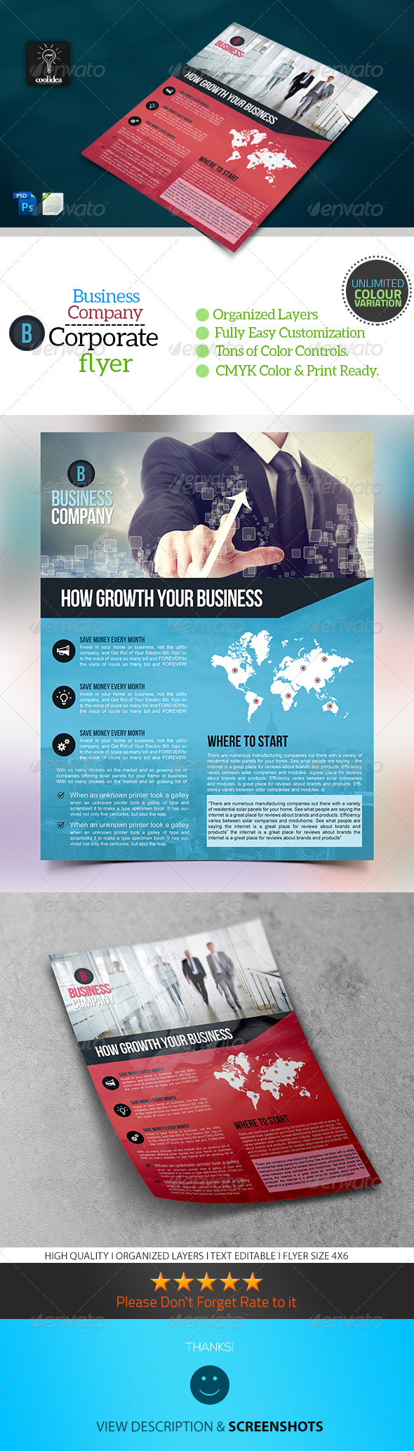 A4 Corporate Flyer Template/ Business - Corporate Flyers