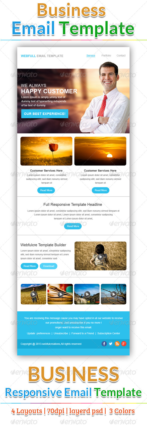 Creative Email Template - E-newsletters Web Elements