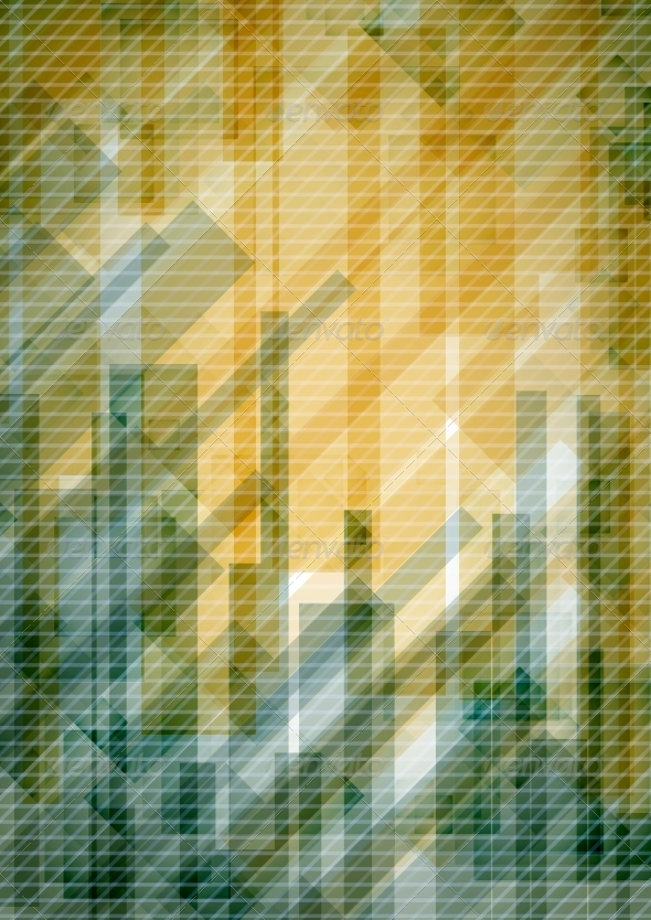 Abstract Yellow Rectangle Shapes Background - Backgrounds Decorative