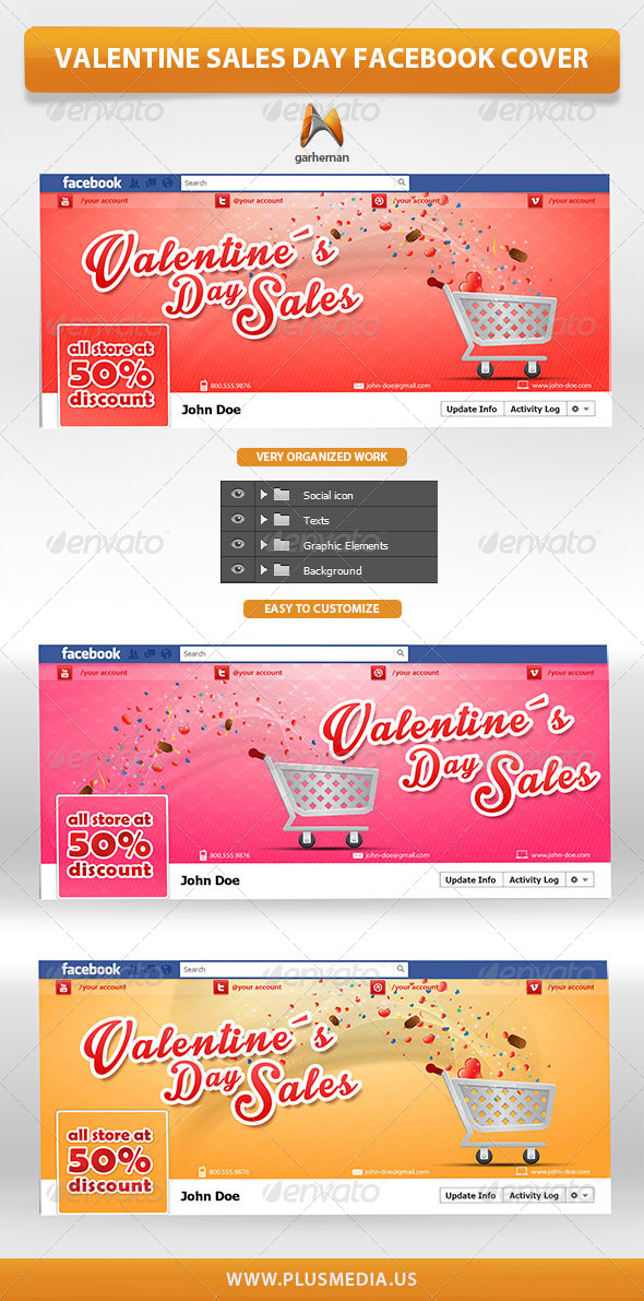 Valentine Sales Day Facebook Cover - Facebook Timeline Covers Social Media