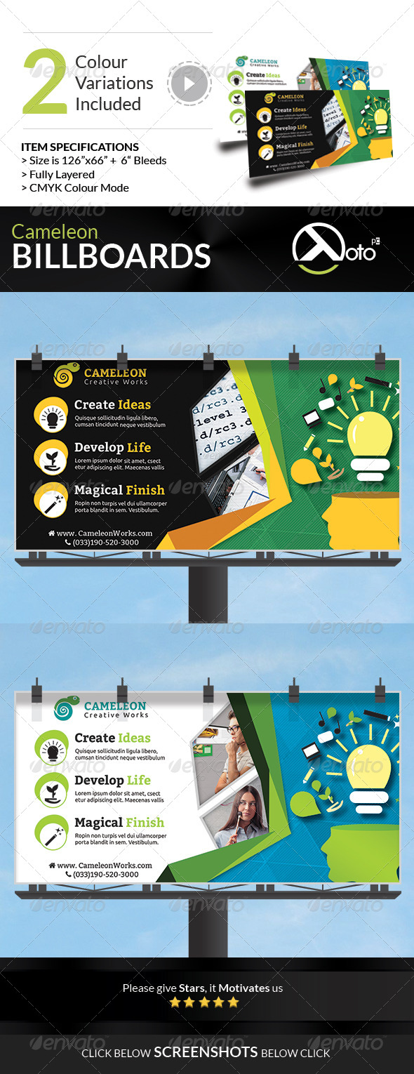 Cameleon Works Billboard Banners - Signage Print Templates