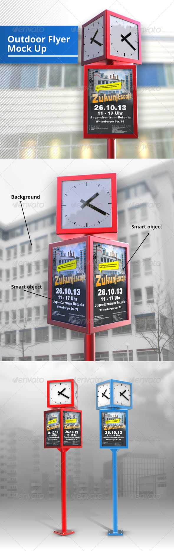 Outdoor Flyer Mock-Up - Posters Print