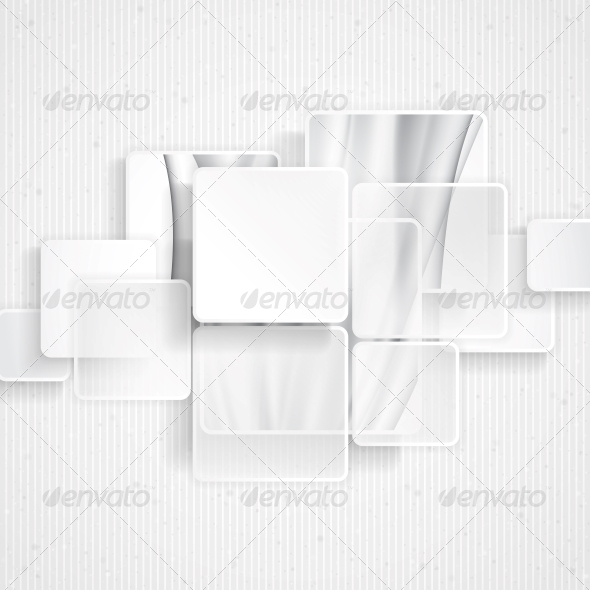 White Square Element on Stripes Background - Backgrounds Decorative