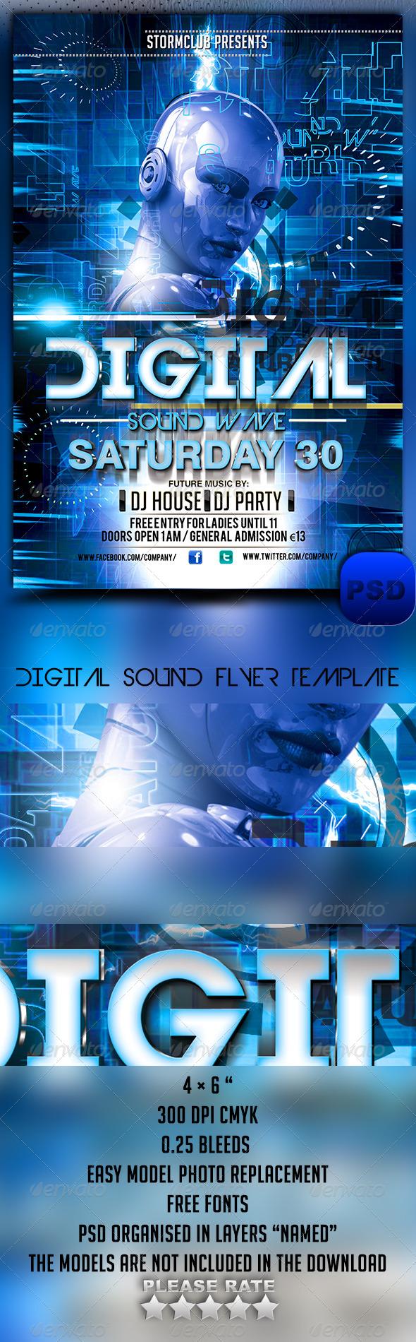Digital Sound Flyer Template - Events Flyers