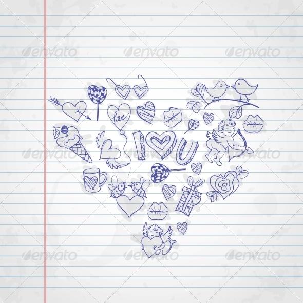 Valentine's Day Symbols - Valentines Seasons/Holidays