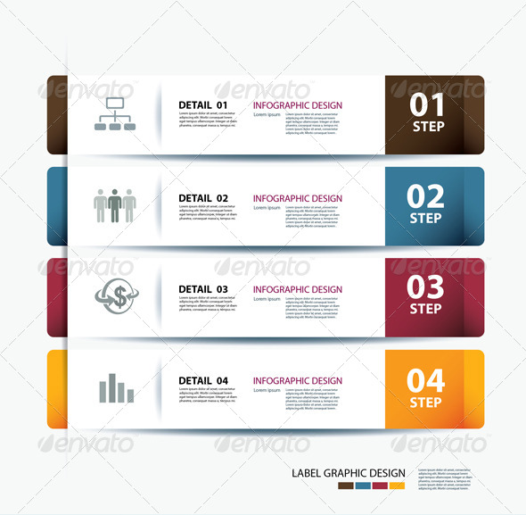 Business Step Paper Data and Design Template - Infographics