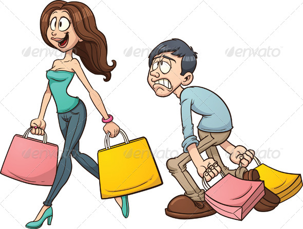 Couple Shopping - People Characters