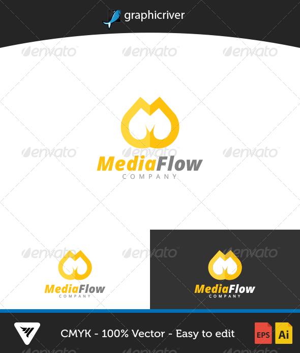 MediaFlow Logo - Logo Templates