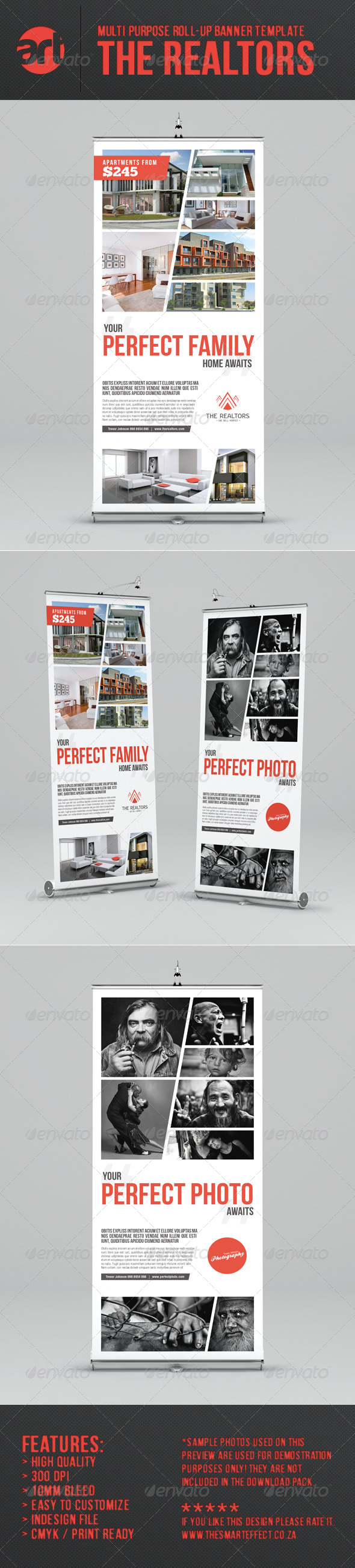 The Realtors Multi-Purpose Roll-up Banner Template - Signage Print Templates