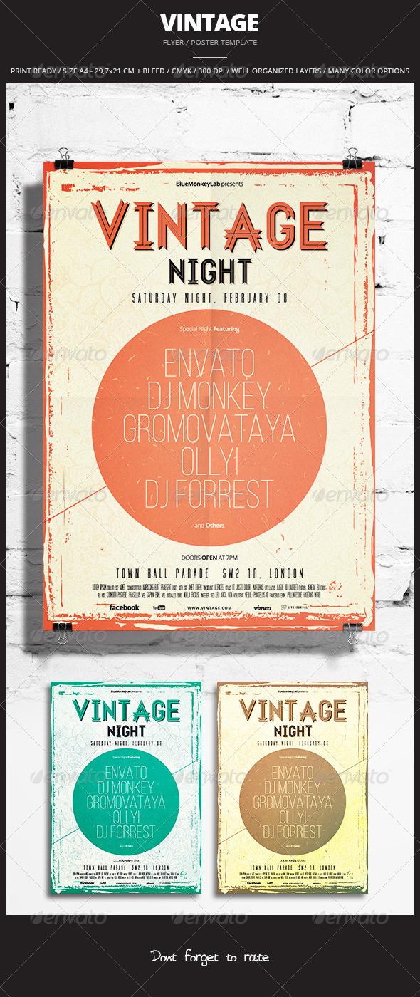 Vintage Flyer / Poster 6 - Events Flyers