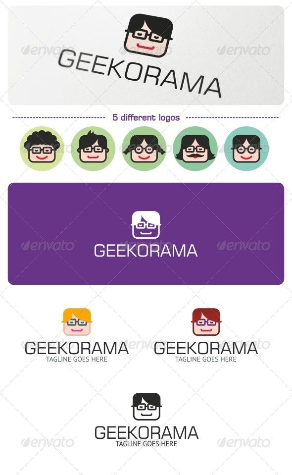 Geekorama Logo - Humans Logo Templates