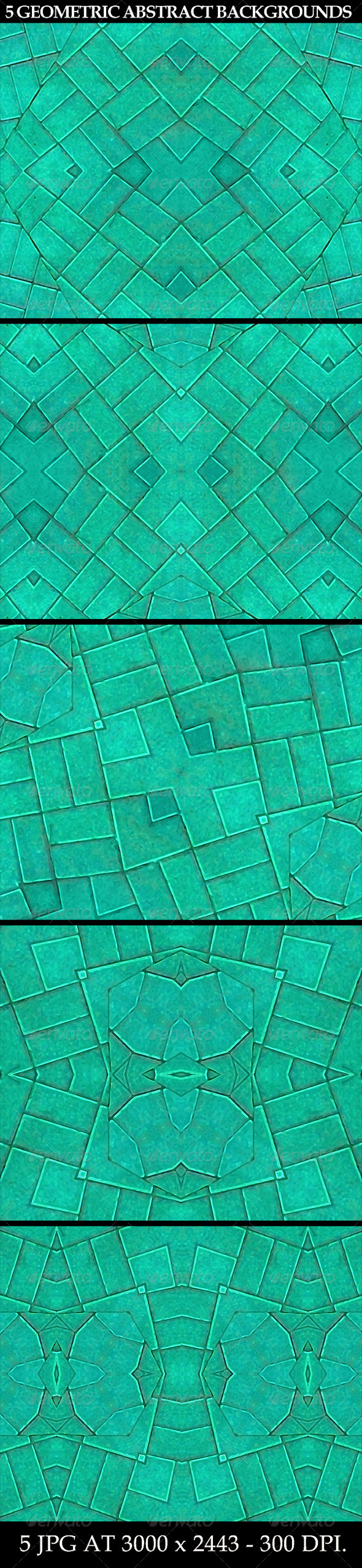 5 Geometric Abstract Backgrounds - Patterns Backgrounds