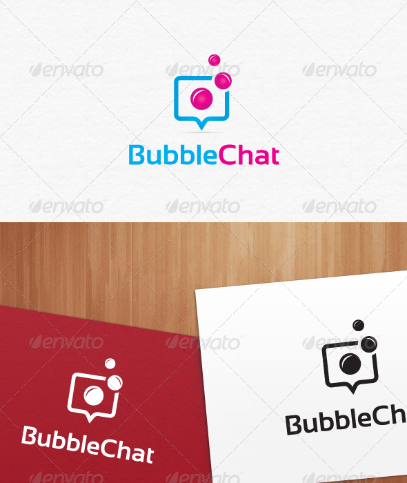 Bubble Chat Logo Templates - Vector Abstract