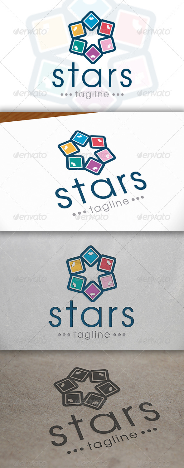 Star Logo Template - Vector Abstract