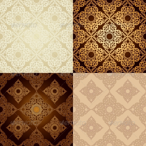 Set of Seamless Patterns in Islamic Style - Patterns Decorative