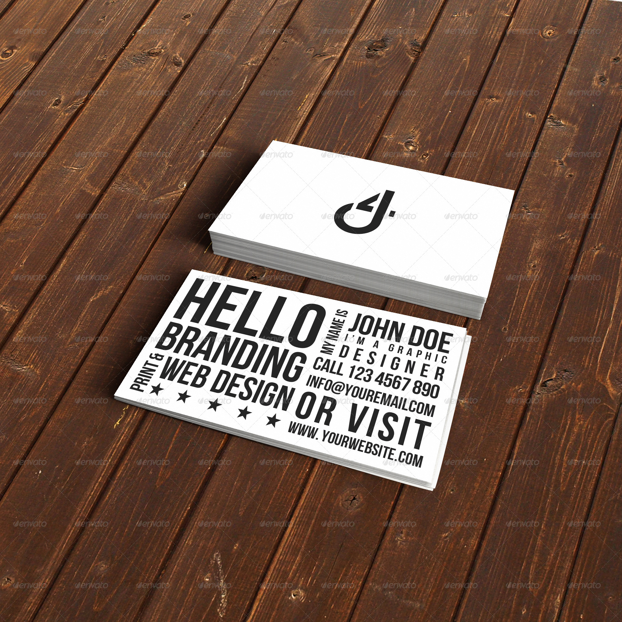 Unique Typography Business Card by Designs4you | GraphicRiver