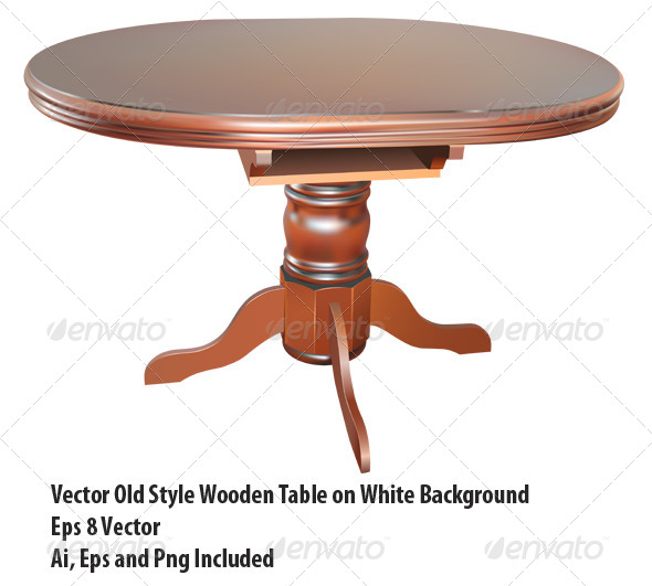 Wooden Table - Objects Vectors