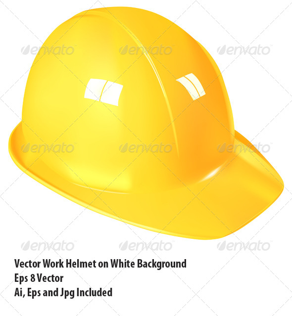 Work Helmet - Objects Vectors