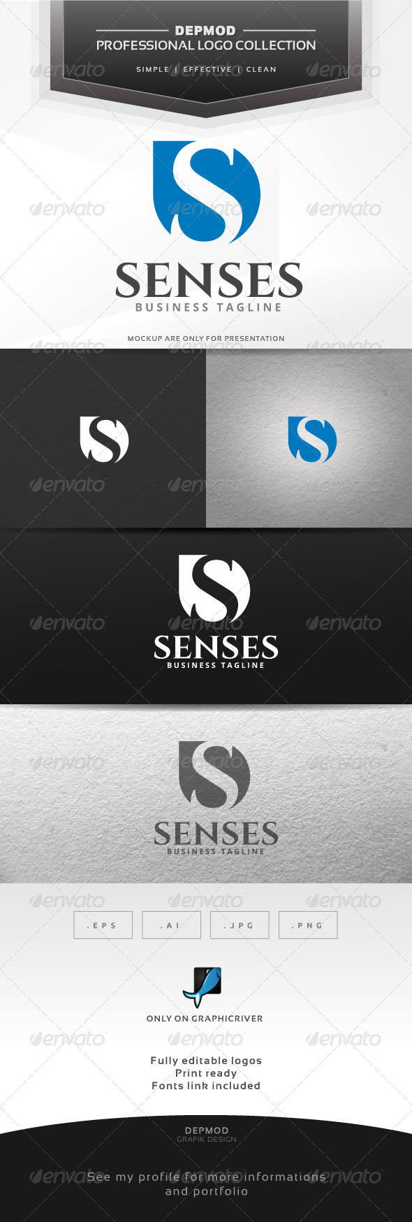 Senses Logo - Letters Logo Templates
