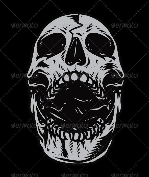 Skull Head Vector - Monsters Characters