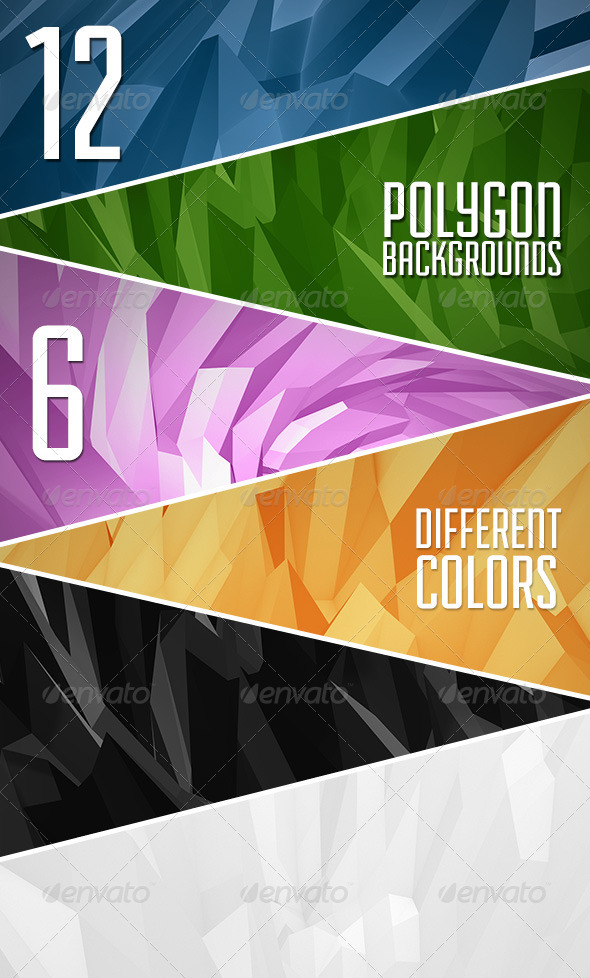 Abstract Polygon Backgrounds Vol.2 - Abstract Backgrounds