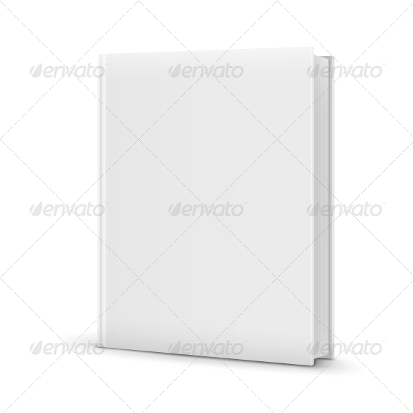 Blank White Standing Book Template - Man-made Objects Objects