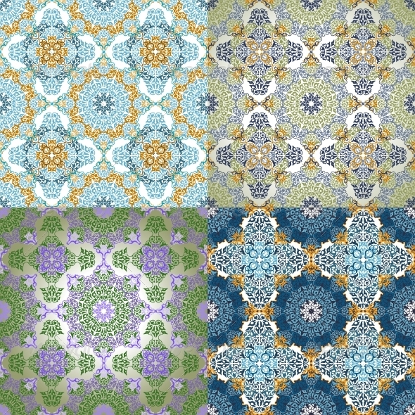 Set of Seamless Patterns in Islamic Style - Backgrounds Decorative