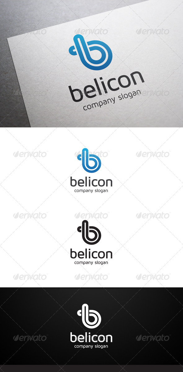 Belicon B Letter Logo - Letters Logo Templates