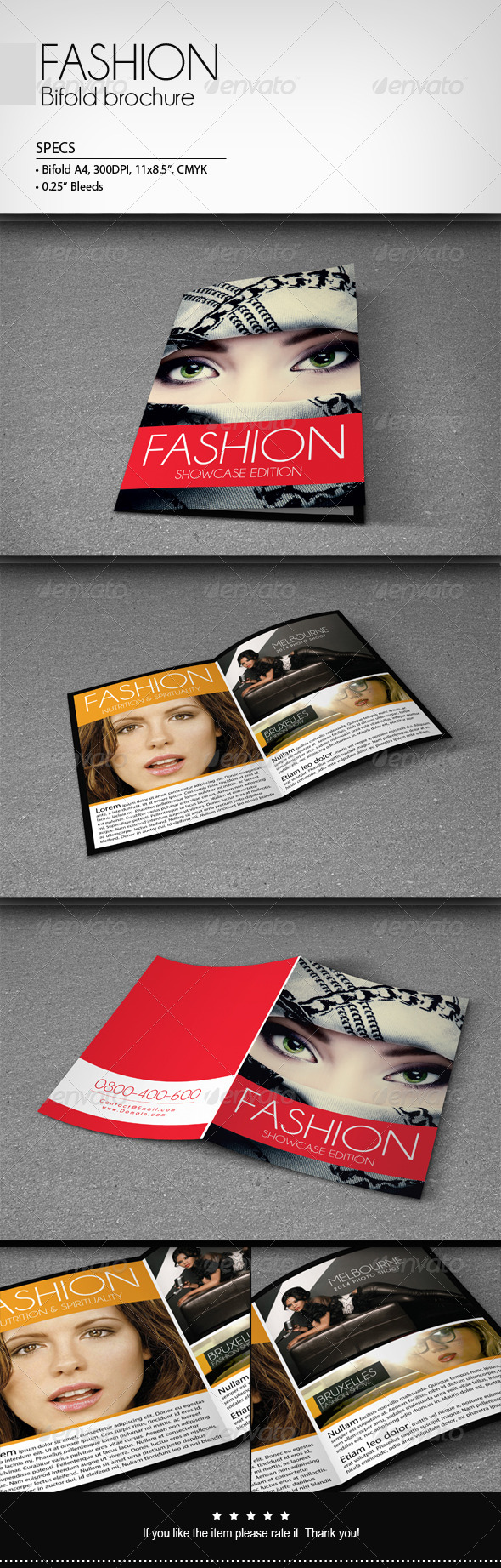 Fashion - Bifold Brochure - Corporate Brochures