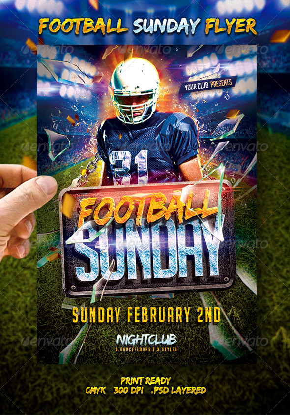 Football Sunday Flyer - Events Flyers