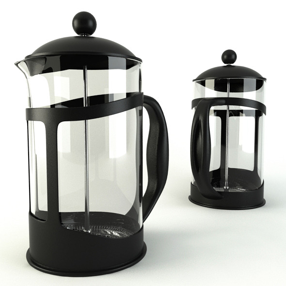 Coffee Cafetiere - 3DOcean Item for Sale