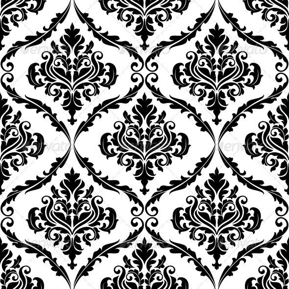ornate floral arabesque decorative pattern by seamartini. Black Bedroom Furniture Sets. Home Design Ideas