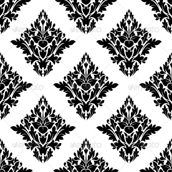 Seamless Arabesque Pattern in Diamond Shape - Patterns Decorative