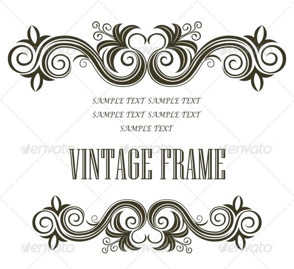 Vintage Framing Header and Footer - Borders Decorative
