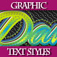 Set of Original Bright Text Graphic Styles. - GraphicRiver Item for Sale