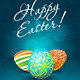Easter Background with Decorated Eggs - GraphicRiver Item for Sale