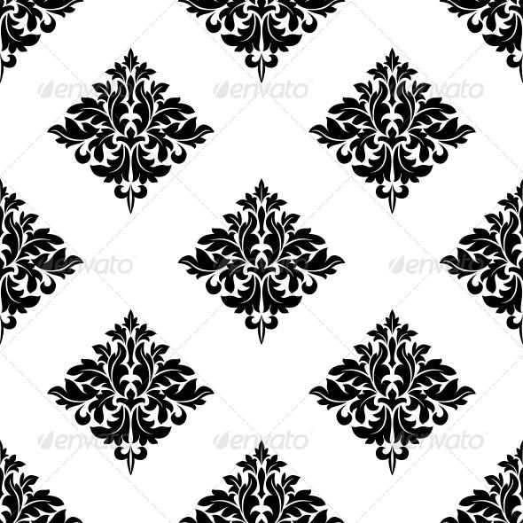 Diamond Shaped Seamless Arabesque Pattern - Patterns Decorative