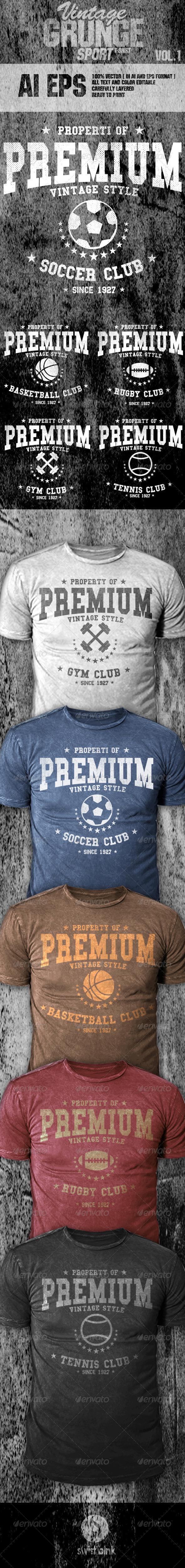 Vintage Grunge Sport Vol 1 - T-Shirts