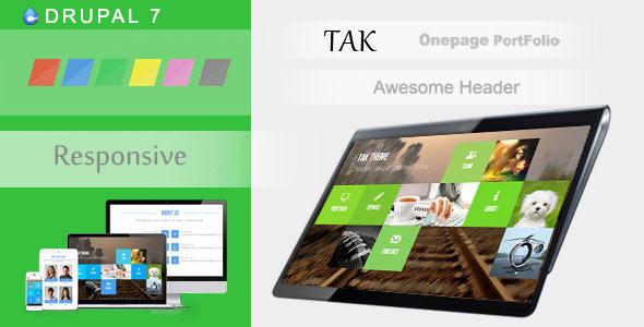 TAK - Responsive Onepage Portfolio Drupal - Drupal CMS Themes