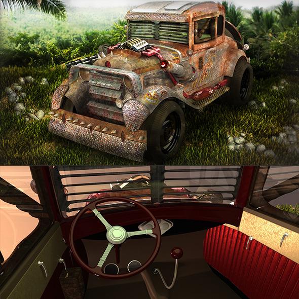 Jungle Death Racer Vehicle  - 3DOcean Item for Sale