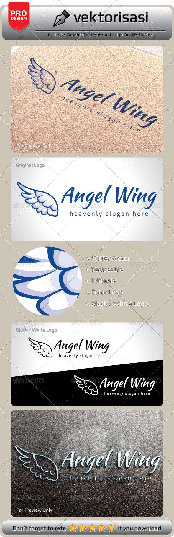 Angel Wing - Objects Logo Templates
