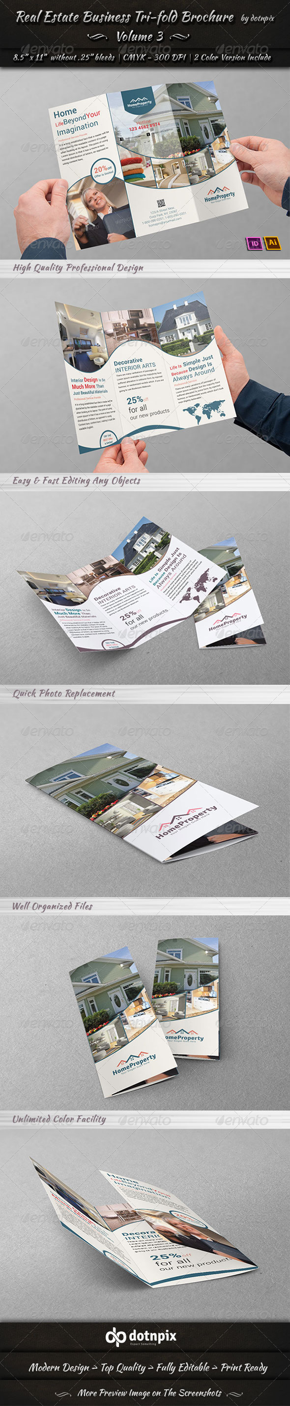 Real Estate Business TriFold Brochure | Volume 3 - Corporate Brochures