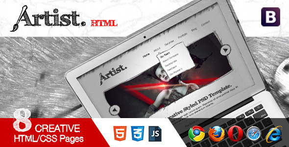 Artist Sketch Responsive HTML Template