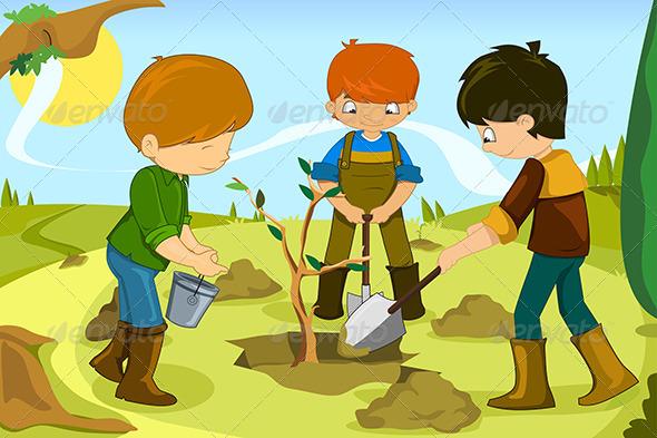 Volunteer Kids - People Characters