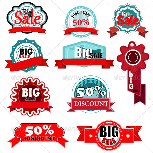 Sale Icons - Commercial / Shopping Conceptual