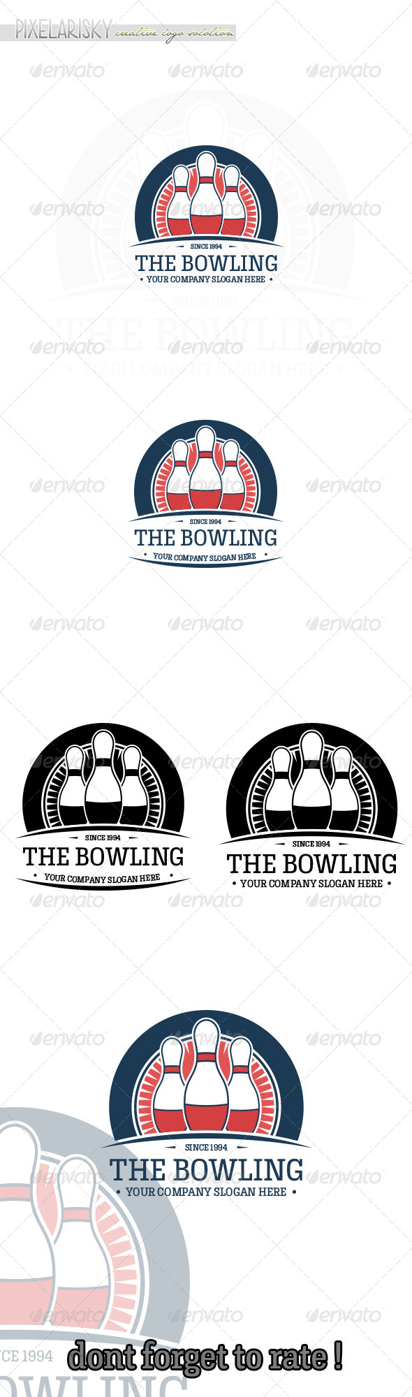 Bowling Sport Logo - Objects Logo Templates