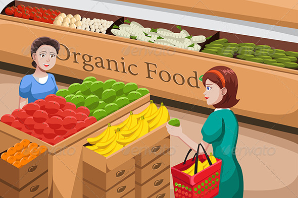 People Shopping for Organic Food - Commercial / Shopping Conceptual