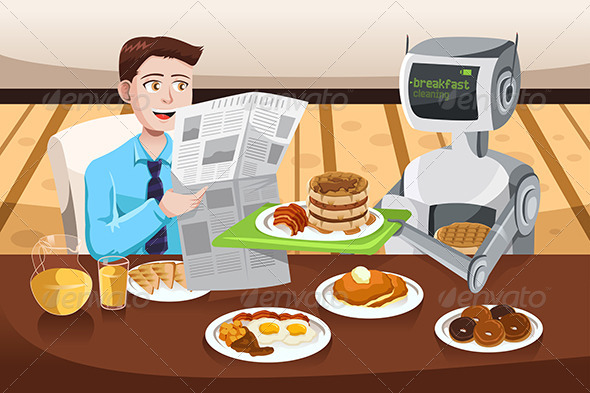 Robot Serving Breakfast - Technology Conceptual