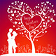 Couple with Valentines Tree - GraphicRiver Item for Sale